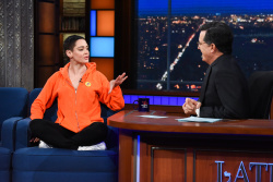 Rose McGowan - The Late Show with Stephen Colbert: January 31st 2018