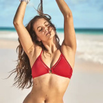 Barbara Palvin in Red Bikini, April 2019