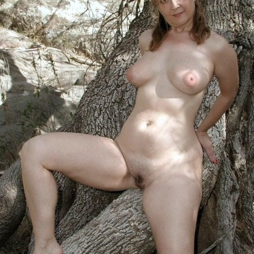 Naked wife in the woods