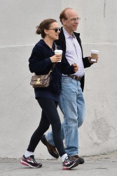 Natalie Portman - Out for breakfast with her parents in Los Feliz 4/2/18