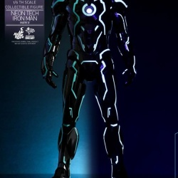 "Iron Man 2 - Mark IV Neon Tech ""Toy Flair Exclusive 2018"" 1/6 (Hot Toys) NhQTI0Yi_t"