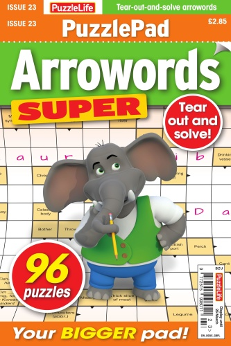 PuzzleLife PuzzlePad Arrowords Super - Issue 23 - February 2020