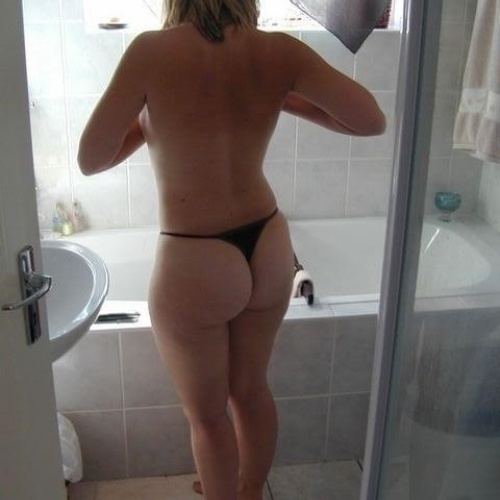 Naked wife embarrassed