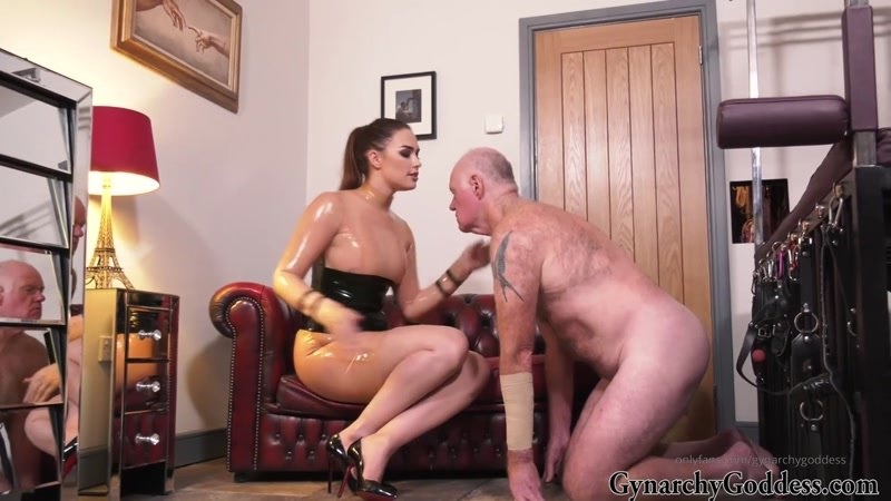 Goddess Gynarchy starring in video (Spat on and Slapped hard) [HD 86.4 MB]