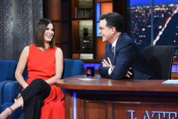 Sandra Bullock - The Late Show with Stephen Colbert: December 17th 2018