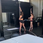Jennifer Lopez - Pole Dance Practice 2/19/2019