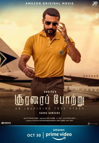 Soorarai Pottru (2020) 1080p HDRip x264 [Multi Audio][Telugu+Tamil+Mal+Kan]