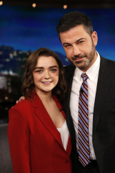 Maisie Williams - Jimmy Kimmel Live: February 20th 2018