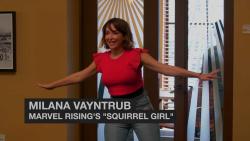 Milana Vayntrub and Chloe Bennet - Marvel Rising & Young Storytellers - February 2019