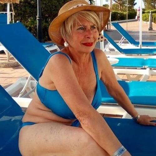 Granny at the beach pics