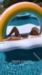 Caroline Wozniacki at pool in Bikini 4/14/19