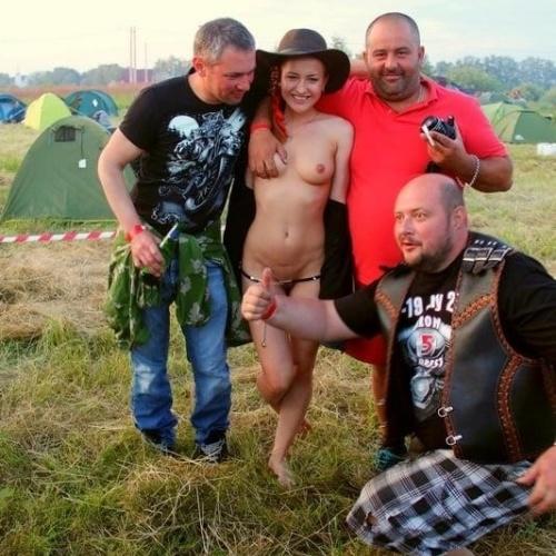 Girls nude in stockings