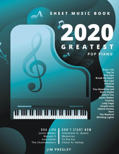 GREATEST POP PIANO SHEET MUSIC BOOK - Songbooks For Piano -