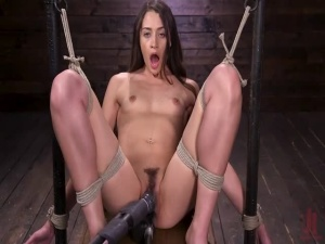 Cute Little Avi Love Is Bound And Machine Fucked - BDSM, Punishment, Bondage