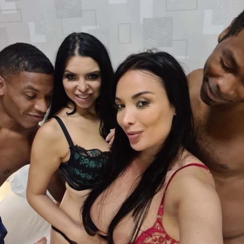 Anissa Kate, Kira Queen - Anissa Kate and Kira Queen Pick up two Black Guys on the Street [2020 г., Amateur, Russian, Interracial, Milf, Oral, Deepthroat, Orgy, POV, Homemade]