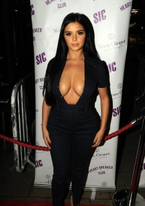 Demi Rose - Busty In A Plunging Dress Attending The Veuve Clicuot Party In London (11/12/17)