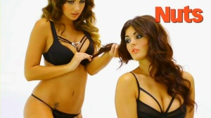 Holly Peers & India Reynolds - Photoshoot (50 More Shades)hd