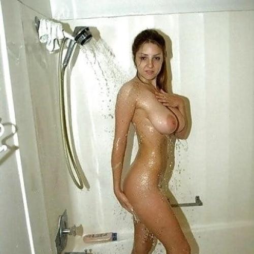 Sexy girl in bathroom