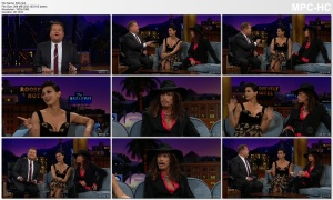 MORENA BACCARIN *cleavage, thigh flash* -  james corden - 5.17.2018