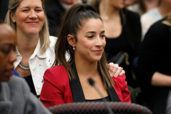 Aly Raisman - Speaking in Court in Michigan - 01/19/18