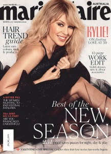 Kylie Minogue -                Marie Claire Magazine (Australia) March 2019.