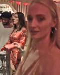 Sophie Turner at party with Britney Spears impersonator February 2019
