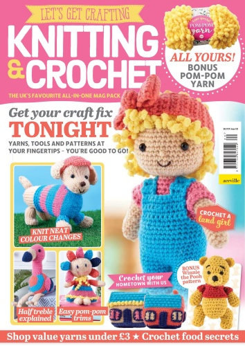 Let ' s Get Crafting Knitting & Crochet - Issue 120 - April (2020)