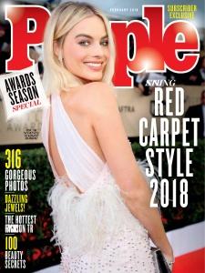 Margot Robbie -        People Magazine February 2018.