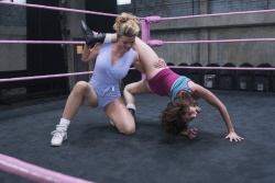 Alison Brie - Wrestling Pic From GLOW