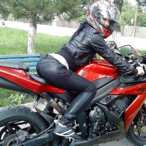 Sexy women on motorbikes