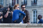 """Jessica Chastain - on the set of """"355"""" in Paris 7/12/19"""