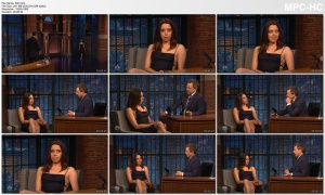 AUBREY PLAZA *bare sides and LEGS* - seth meyers - 4.12.2018 - s5e91
