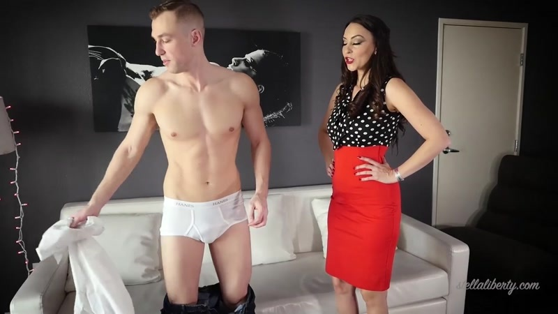 Stella Liberty, Alrik Angel starring in video (Junior Spanked by Step-Mommy) [HD 720P]