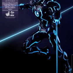 "Iron Man 2 - Mark IV Neon Tech ""Toy Flair Exclusive 2018"" 1/6 (Hot Toys) KZrrTriy_t"
