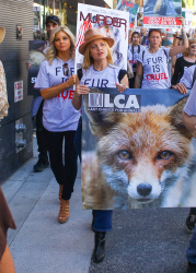 Mena Suvari at an Anti-Fur Protest in Los Angeles - 11/24/17