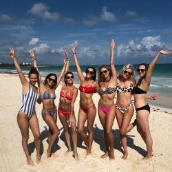 Andrea Bowen in a Bikini at a Beach in Playa del Carmen, Mexico - 11/30/18 Instagram Pics