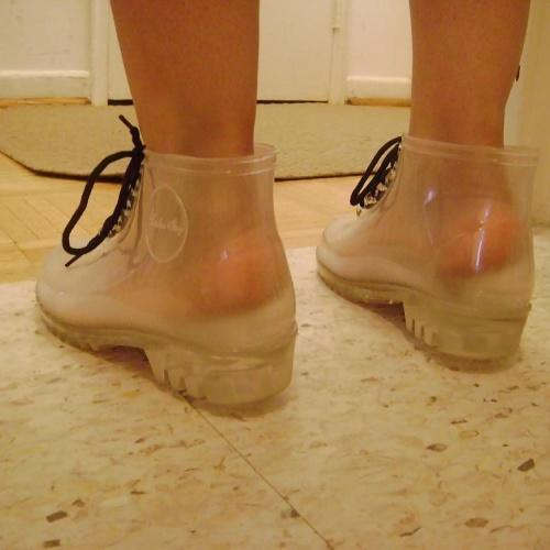Sugar skull rain boots