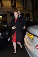 """Jessica Chastain - arriving back at Claridges Hotel after the """"Molly's Game"""" London press conference 12/6/17"""