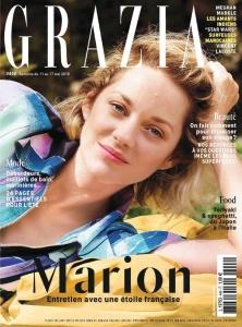 Marion Cotillard  -                      Grazia Magazine (France) May 2018.