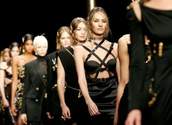 Candice Swanepoel - Versace Fashion Show in Milan 2/22/19