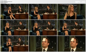 CHERYL HINES *interview, legs, cleavage* fallon - March 27, 2009