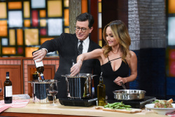 Giada De Laurentiis - The Late Show with Stephen Colbert: April 9th 2018