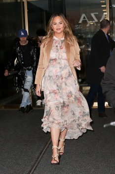 Chrissy Teigen leaving the Today Show in 2