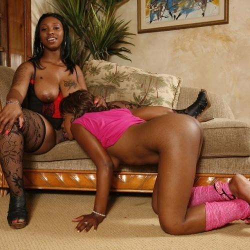Black lesbian stud strapon