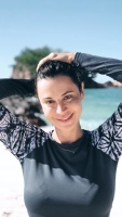 Catherine Bell - IG pics from vacation after filming in Fiji, May 2017 (bikini) x3
