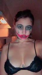 Lia Marie Johnson in a Black Bra - 11/4/18 Instagram Video