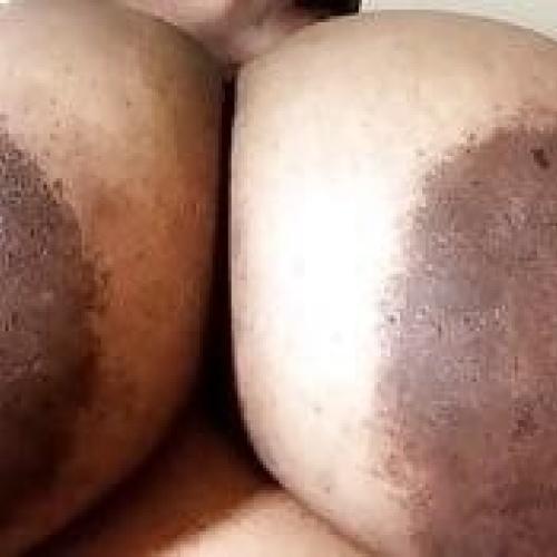 Petite ebony huge tits