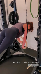 Minka Kelly Working Out at a Gym - 9/10/19 Instagram Videos