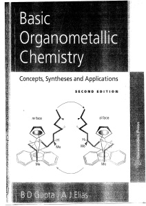 Basic Organometallic Chemistry- Concepts, Syntheses and Applications