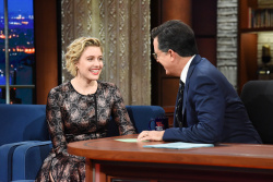 Greta Gerwig - The Late Show with Stephen Colbert: November 16th 2017